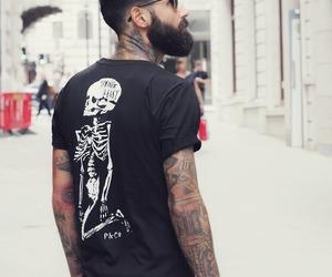 tattoo, beard, and guy image