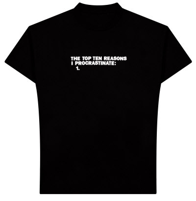 funny, procrastination, and t-shirt image