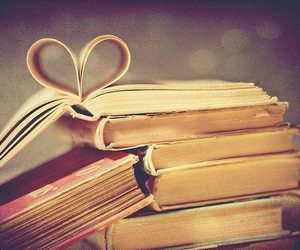 book, heart, and cute image