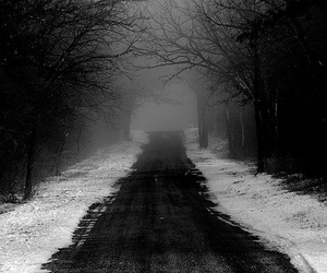 black and white, path, and pretty image