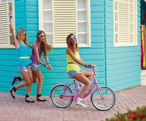 bike, girl, and random image