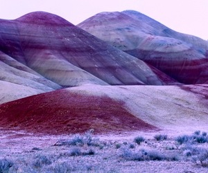 purple, mountains, and landscape image