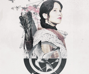 the hunger games, mockingjay, and katniss image
