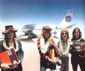 led zeppelin, jimmy page, and robert plant image