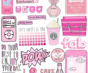 pink, starbucks, and pow image