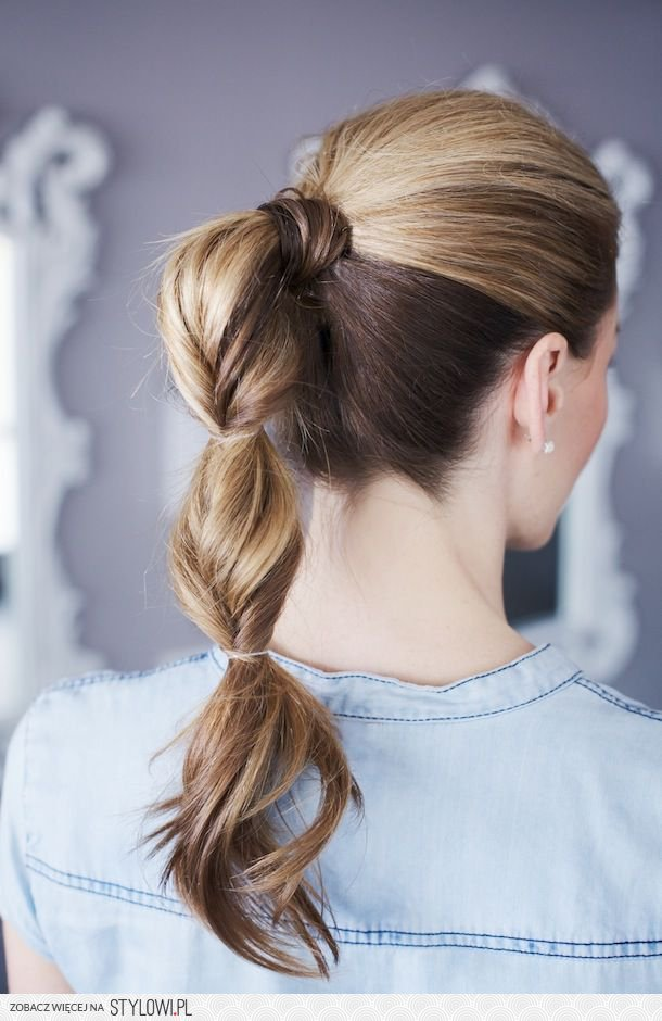 beautiful, ponytail, and pretty image