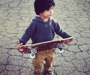 boy, skate, and baby image