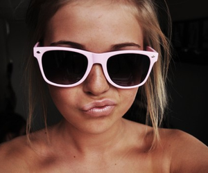 sunglasses, duck face, and tan image