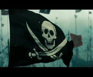 flag, pirate, and pirate flag image