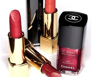 chanel, lipstick, and nailpolish image