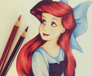 ariel, drawing, and art image