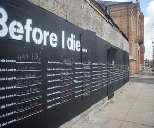 before i die, art, and wall image