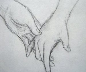 <3, blackandwhite, and holding hands image