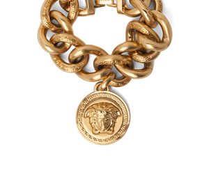 Versace, gold, and chain image