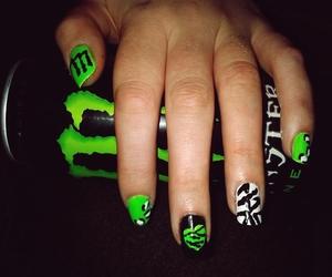 black, nails, and green image