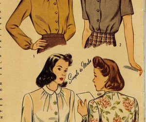 50s, inspired, and clothing image