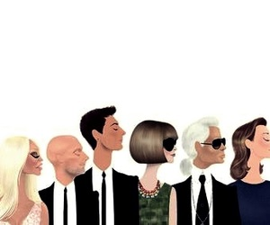 Anna Wintour, fashion, and karl lagerfeld image