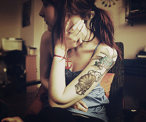 anchor, Tattoos, and girl image