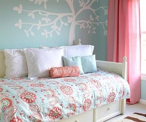 bedroom, blue, and girly image