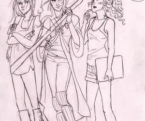 ginny weasley, harry potter, and hunger games image