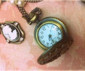 cameo, pocket watch, and watch image