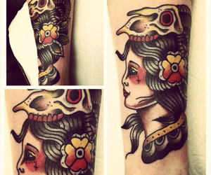 gypsy, tattoo, and traditional image