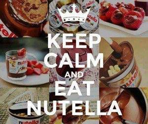 nutella, keep calm, and food image
