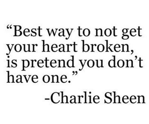 charlie sheen, text, and heart image