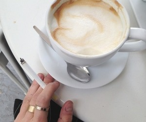 coffee, cigarette, and food image