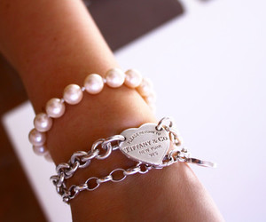 bracelet, pearls, and tiffany & co image
