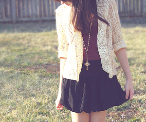 blazer, girl, and lace image