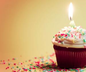 cupcake, birthday, and candle image