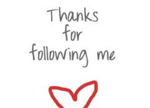 heart, thanks, and followers image