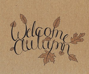 autumn, fall, and welcome image