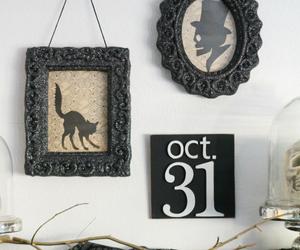 black, cat, and decoration image