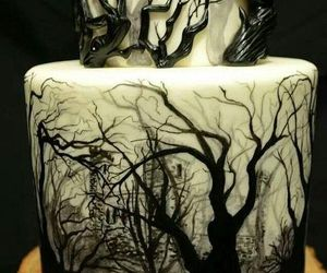 cake, Halloween, and forest image