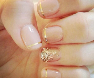 design, gold, and nails image