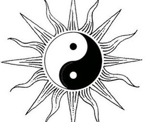 sun, transparent, and yinyang image