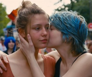 lesbian, blue is the warmest color, and blue image