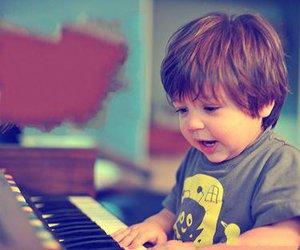 cute, boy, and piano image