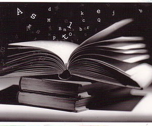 book, black, and Letter image