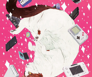 cat, nintendo, and games image