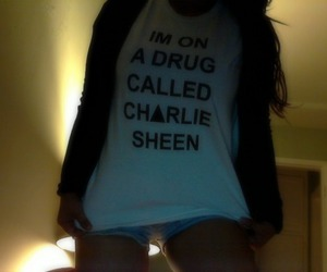 charlie sheen, party, and cute image