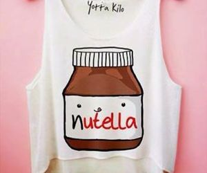 nutella, chocolate, and t-shirt image