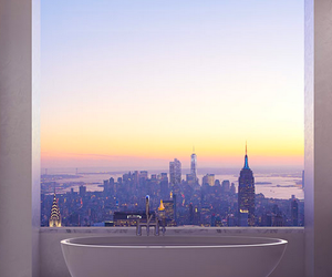 bath, city, and bathroom image