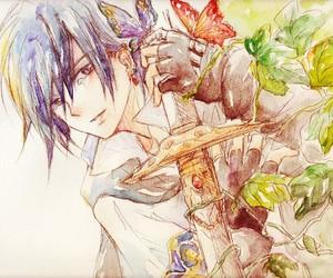 anime, boy, and swoard image