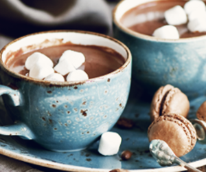 marshmallow, hot ​chocolate, and Hot image