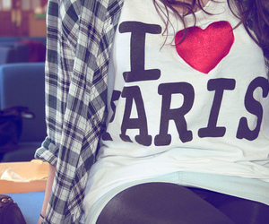 paris, shirt, and heart image