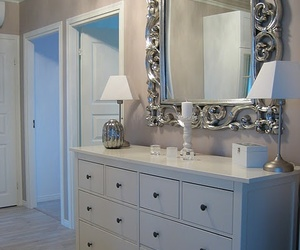 blue, mirrors, and shabby image