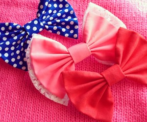 bows, girly, and romantic image